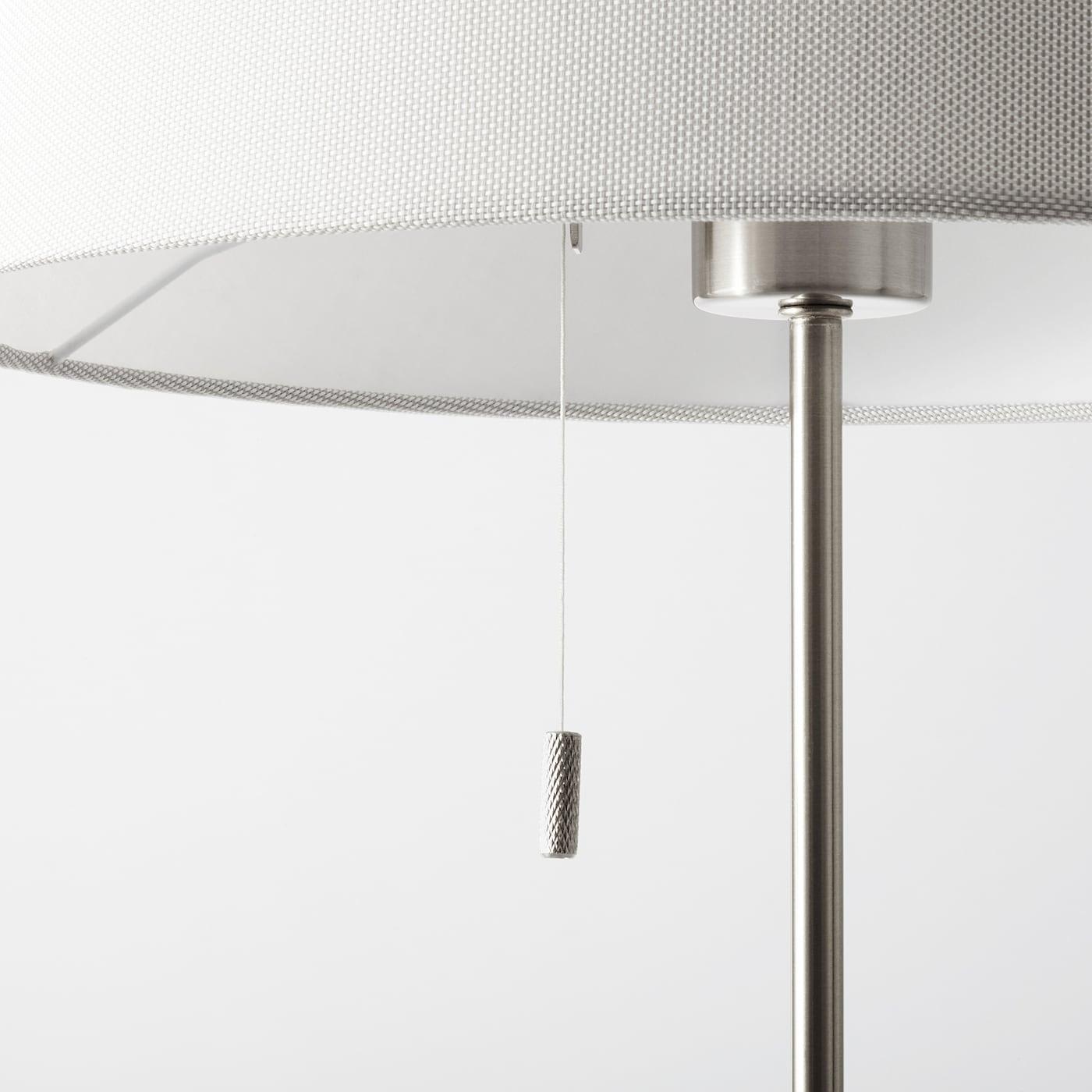 Nyfors Standleuchte Vernickelt Weiss Ikea Deutschland