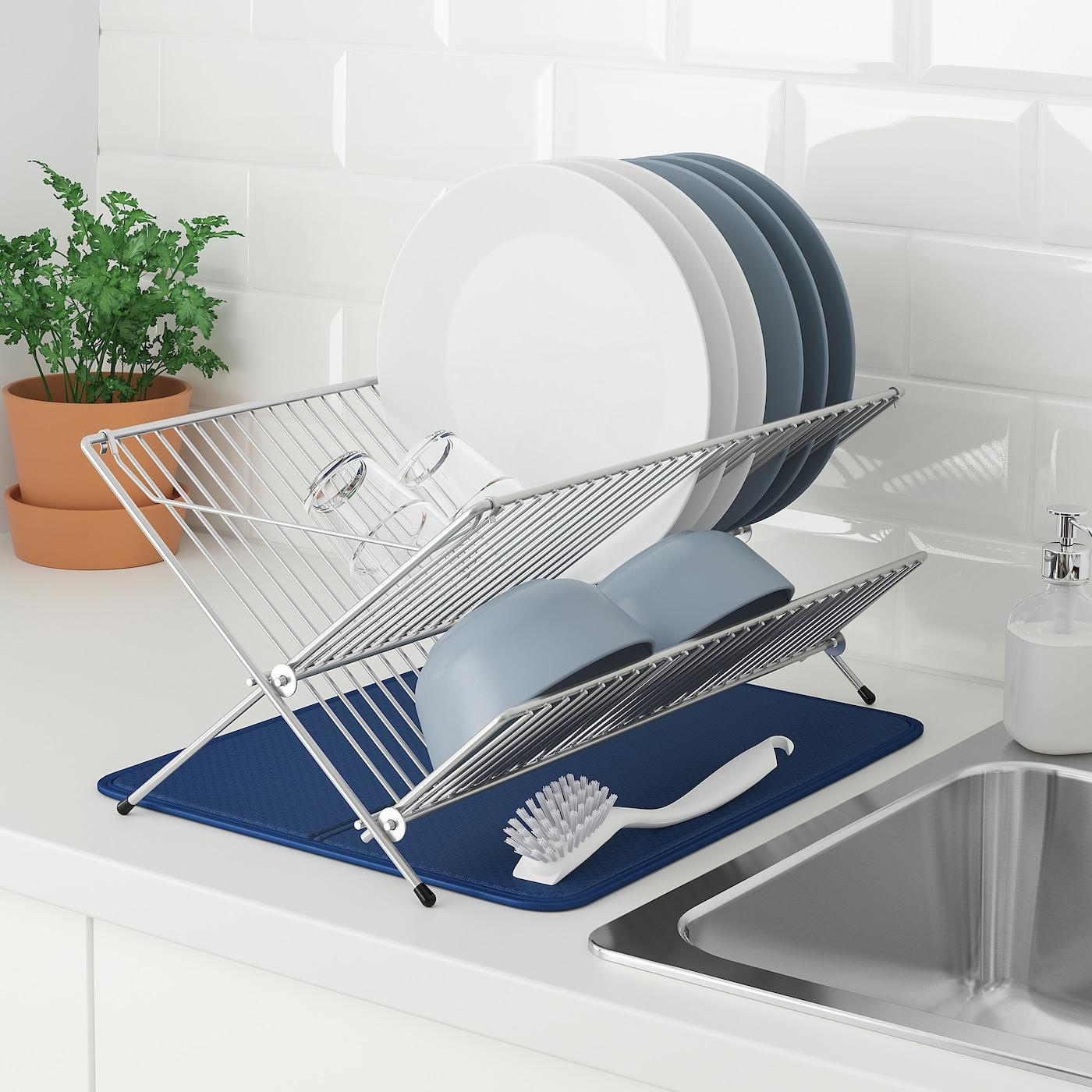 Nyskoljd Geschirrunterlage Blau Ikea Deutschland