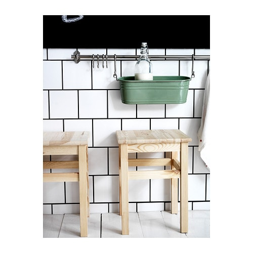 ikea landhaus hocker holzhocker schemel holzschemel 33x33x45 cm massive kiefer ebay. Black Bedroom Furniture Sets. Home Design Ideas