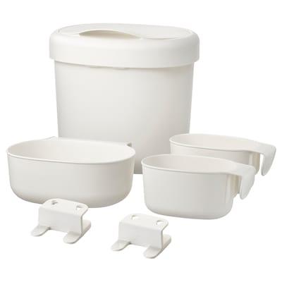 ÖNSKLIG Behälter 4er-Set weiß 27 cm 23 cm 26 cm