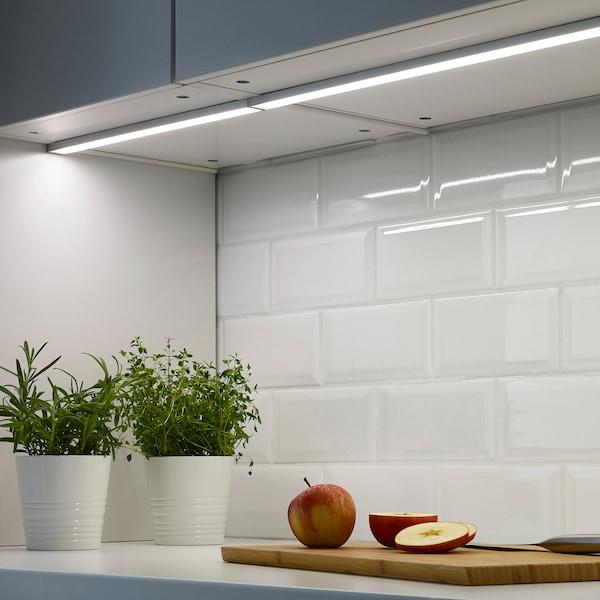 OMLOPP Arbeitsbeleuchtung, LED, aluminiumfarben, 40 cm