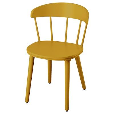 OMTÄNKSAM Stuhl gelb 53 cm 50 cm 79 cm 45 cm 43 cm 47 cm