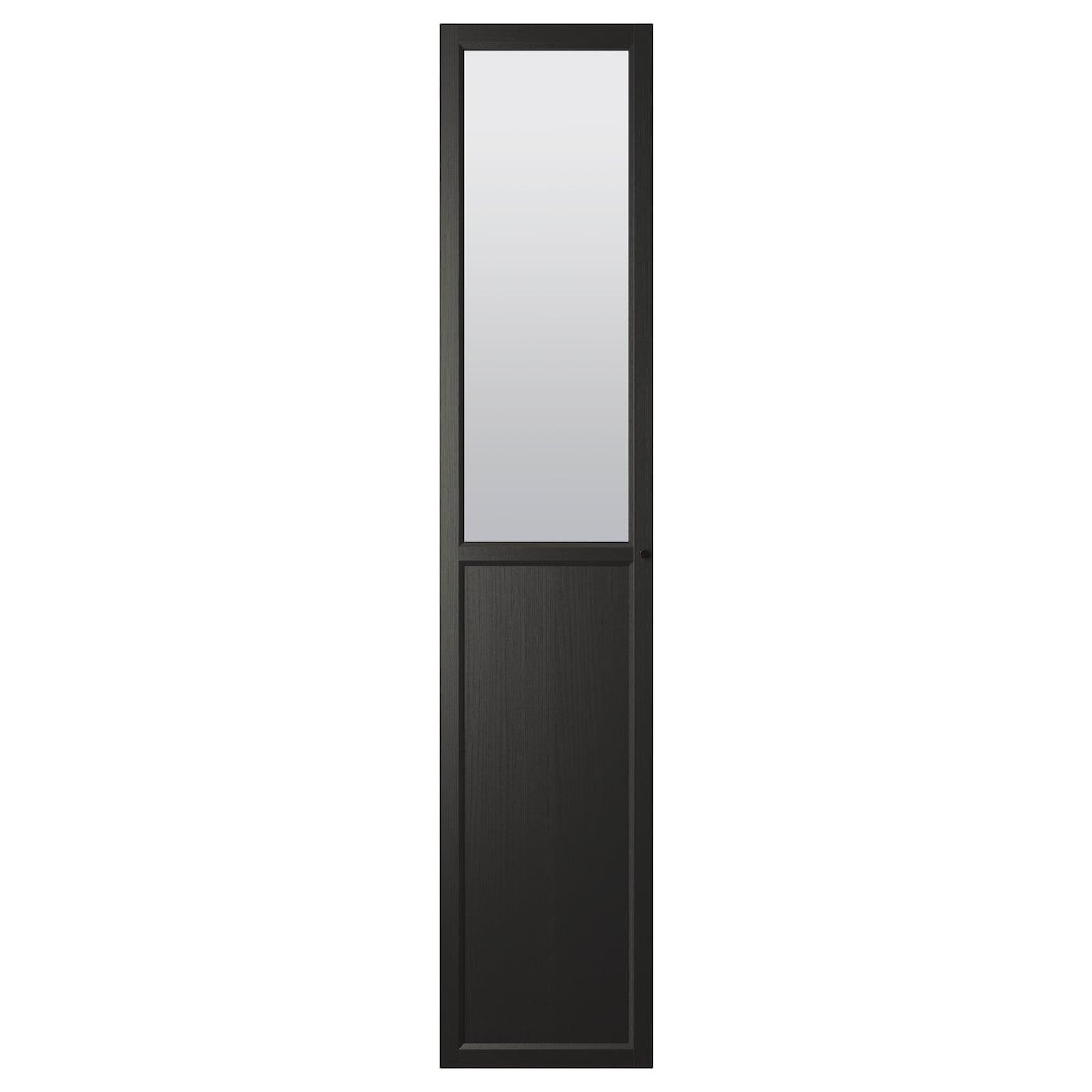 OXBERG, Paneel-/Vitrinentür, schwarzbraun, 002.756.74