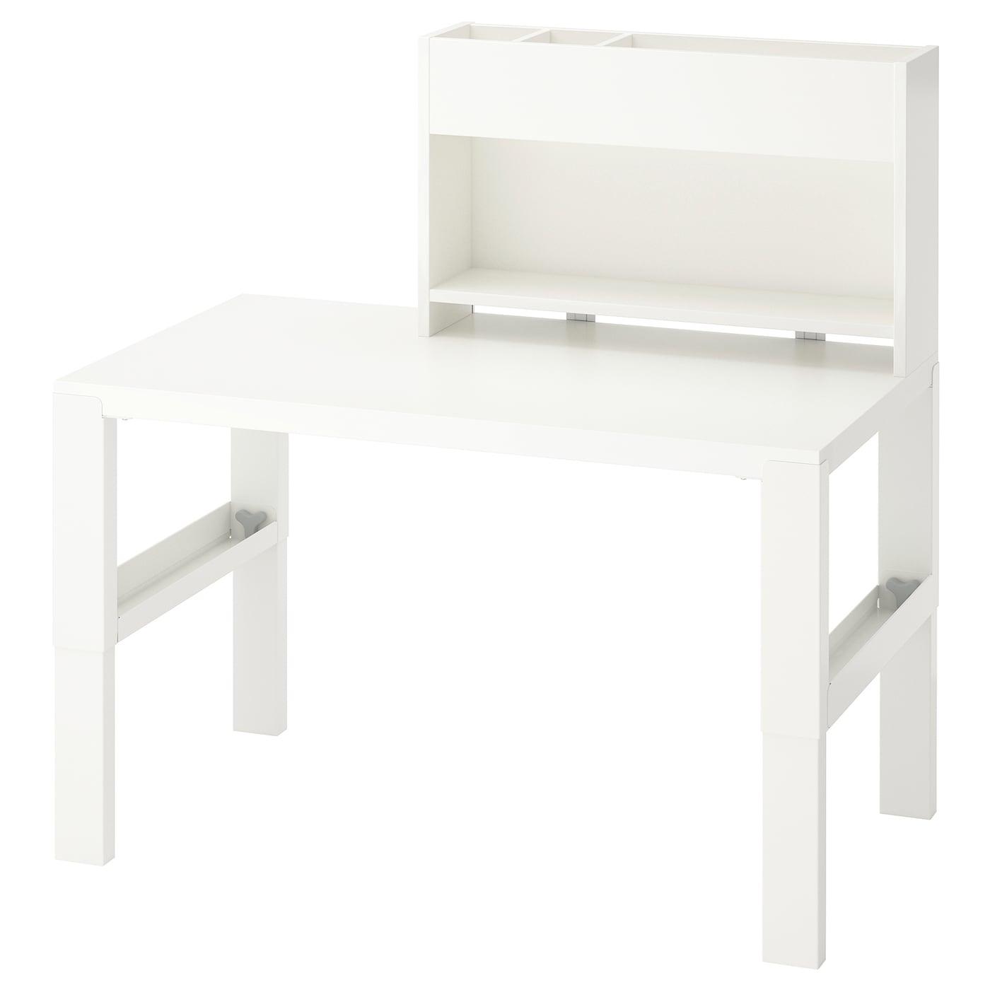 PÅHL Schreibtisch mit Aufsatz - weiß 96x58 cm