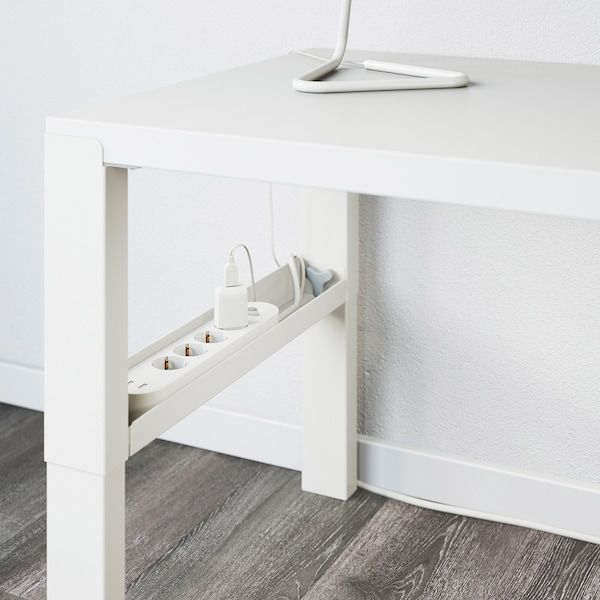 PÅHL Schreibtisch mit Aufsatz, weiß, 96x58 cm