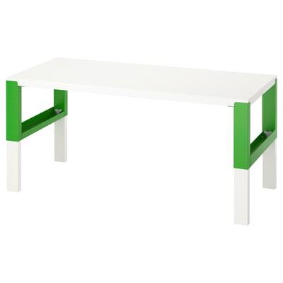 PÅHL Schreibtisch, weiß/grün, 128x58 cm