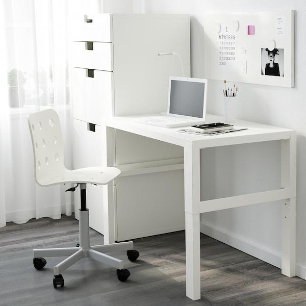 PÅHL Schreibtisch, weiß, 96x58 cm