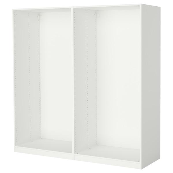 PAX 2x Korpus Kleiderschrank, weiß, 200x58x201 cm