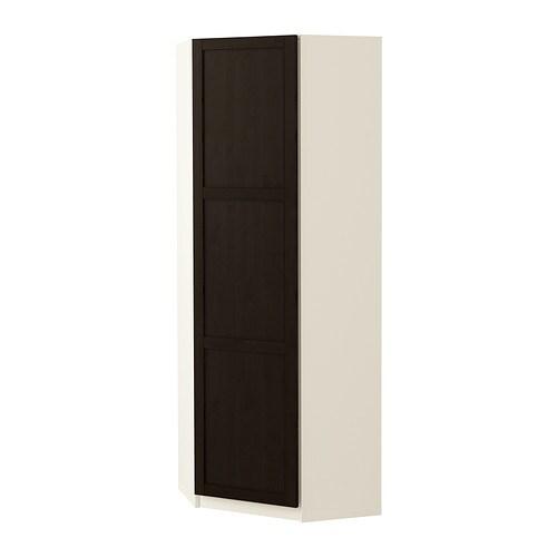 Etagere Rangement Jouet Ikea ~   Eckkleiderschrank  Hemnes schwarzbraun, weiß, 73 73×201 cm  IKEA