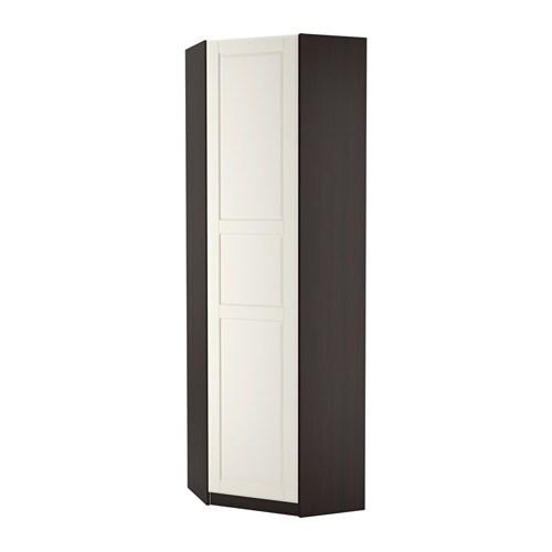 pax eckkleiderschrank tyssedal wei schwarzbraun 73 73x236 cm ikea. Black Bedroom Furniture Sets. Home Design Ideas