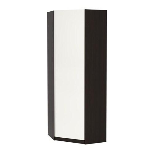 pax eckkleiderschrank vikanes wei schwarzbraun 73 73x201 cm ikea. Black Bedroom Furniture Sets. Home Design Ideas