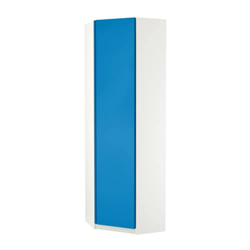 pax eckkleiderschrank vikanes blau wei 73 73x236 cm ikea. Black Bedroom Furniture Sets. Home Design Ideas