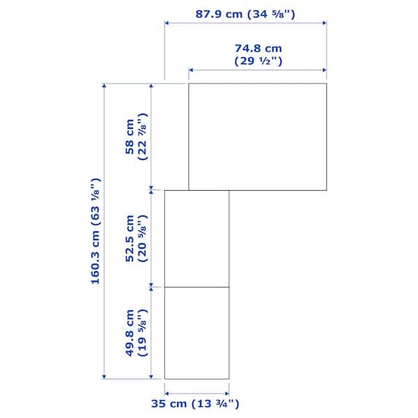 PAX Eckkleiderschrank, weiß/Flisberget hellbeige, 160/88x201 cm