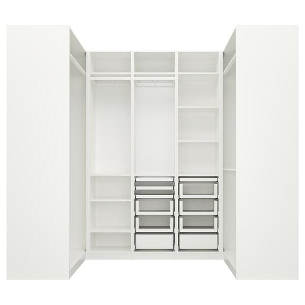 PAX Eckkleiderschrank, weiß, 113/271/113x236 cm