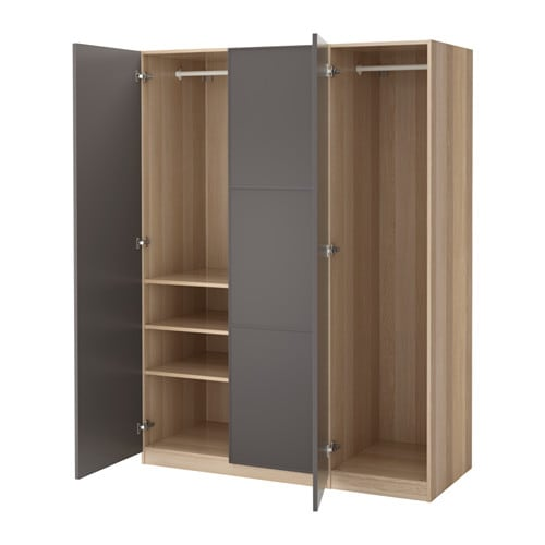 pax kleiderschrank 150x60x201 cm scharnier sanft schlie end ikea. Black Bedroom Furniture Sets. Home Design Ideas