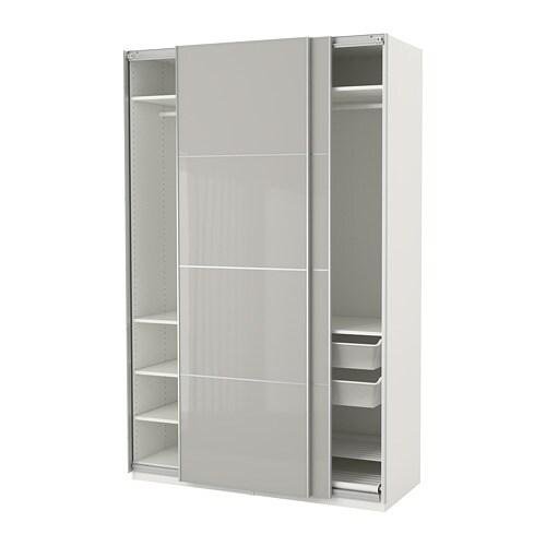 Ikea kleiderschrank weiß hochglanz  PAX Kleiderschrank - 150x66x236 cm, Schiebetürdämpfer - IKEA
