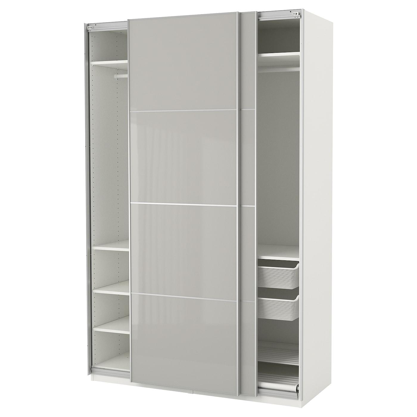 PAX Kleiderschrank - 150x66x201 cm, Schiebetürdämpfer - IKEA
