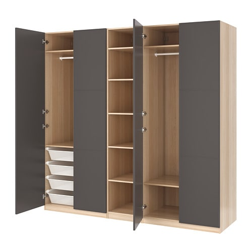 pax kleiderschrank 250x60x236 cm ikea. Black Bedroom Furniture Sets. Home Design Ideas