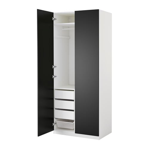 pax kleiderschrank 100x60x236 cm scharnier sanft. Black Bedroom Furniture Sets. Home Design Ideas