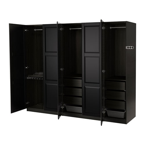pax kleiderschrank 250x60x201 cm scharnier ikea. Black Bedroom Furniture Sets. Home Design Ideas