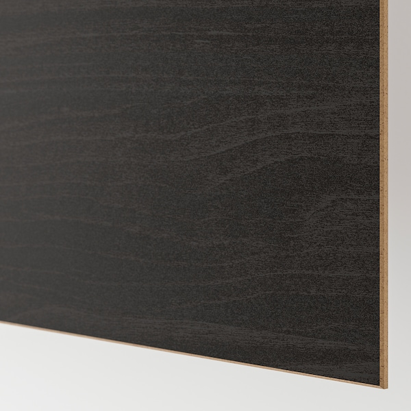 PAX Kleiderschrank, schwarzbraun/Mehamn Eschenachbildung schwarzbraun las, 200x66x201 cm