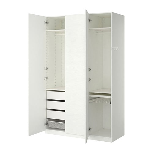pax kleiderschrank 150x60x236 cm scharnier sanft. Black Bedroom Furniture Sets. Home Design Ideas