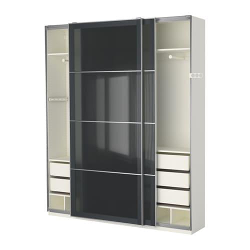 pax kleiderschrank 200x44x236 cm schiebet rd mpfer ikea. Black Bedroom Furniture Sets. Home Design Ideas