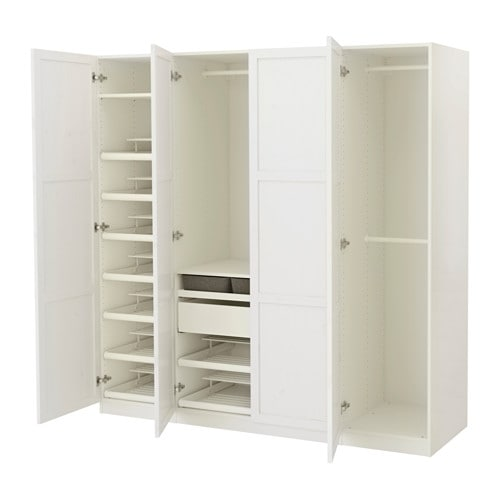 pax kleiderschrank 200x60x201 cm scharnier ikea. Black Bedroom Furniture Sets. Home Design Ideas