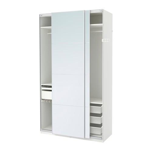 Kleiderschrank weiß mit spiegel ikea  PAX Kleiderschrank - 150x66x236 cm, - - IKEA