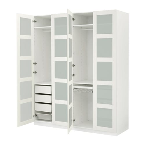 pax kleiderschrank 200x60x236 cm scharnier sanft schlie end ikea. Black Bedroom Furniture Sets. Home Design Ideas