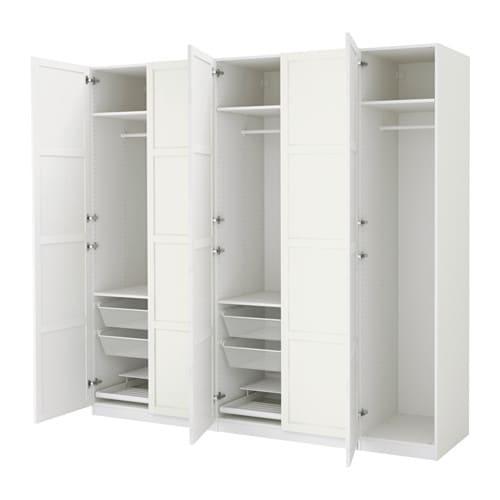 pax kleiderschrank 250x60x236 cm scharnier sanft. Black Bedroom Furniture Sets. Home Design Ideas