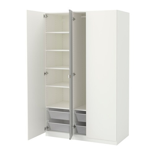 pax kleiderschrank 125x60x201 cm scharnier sanft schlie end ikea. Black Bedroom Furniture Sets. Home Design Ideas