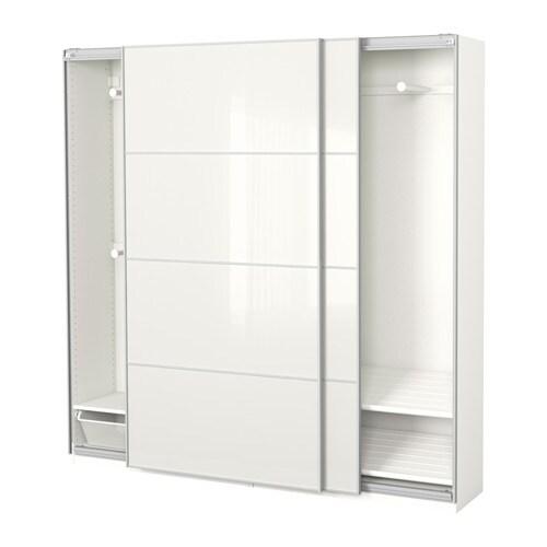 Pax Kleiderschrank 200x44x201 Cm Schiebetürdämpfer Ikea