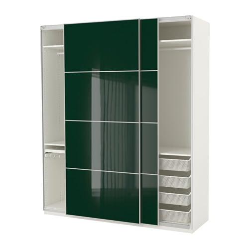 Schrank ikea pax  PAX Kleiderschrank - 200x66x236 cm, Schiebetürdämpfer - IKEA
