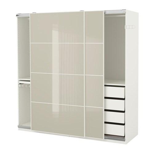pax kleiderschrank 200x66x201 cm schiebet rd mpfer ikea. Black Bedroom Furniture Sets. Home Design Ideas