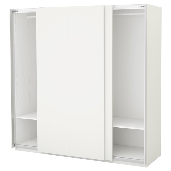 PAX Kleiderschrank, weiß/Hasvik weiß, 200x66x201 cm