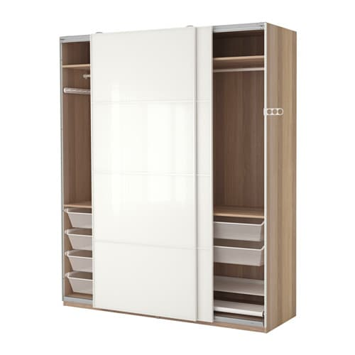 pax kleiderschrank 200x66x236 cm schiebet rd mpfer ikea. Black Bedroom Furniture Sets. Home Design Ideas