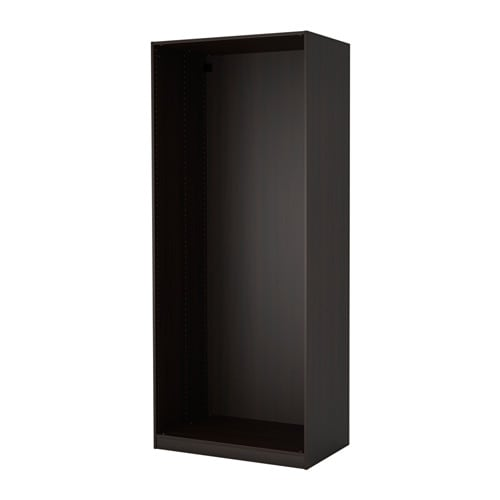 pax korpus kleiderschrank schwarzbraun ikea. Black Bedroom Furniture Sets. Home Design Ideas