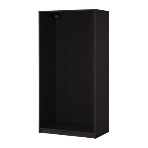 pax korpus kleiderschrank schwarzbraun 100x58x236 cm ikea. Black Bedroom Furniture Sets. Home Design Ideas