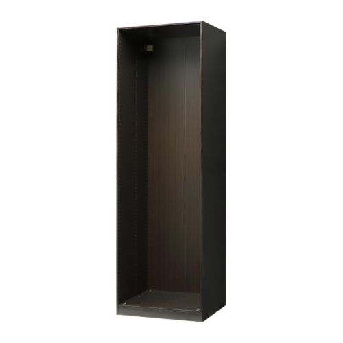 pax korpus kleiderschrank schwarzbraun 75x58x236 cm ikea. Black Bedroom Furniture Sets. Home Design Ideas