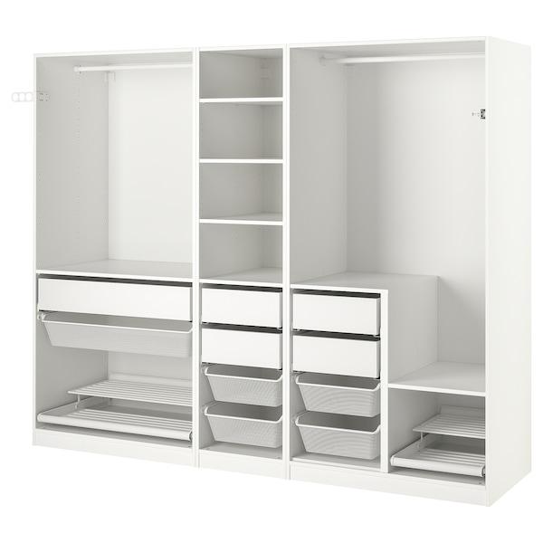 PAX Schrankkombination, weiß, 250x58x201 cm