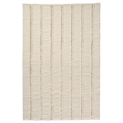 PEDERSBORG Teppich flach gewebt, natur/elfenbeinweiß, 133x195 cm