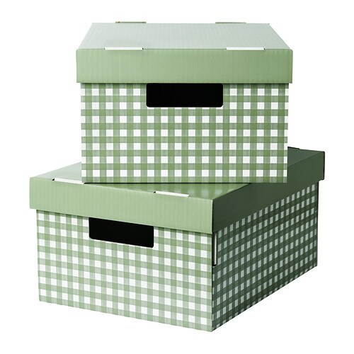 pingla box mit deckel gr n 28x37x18 cm ikea. Black Bedroom Furniture Sets. Home Design Ideas