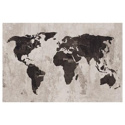 PJÄTTERYD Bild, Weltkarte III, 118x78 cm