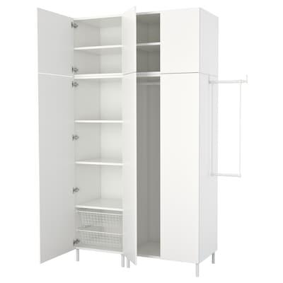 PLATSA Kleiderschrank, weiß/Fonnes weiß, 175-200x57x251 cm