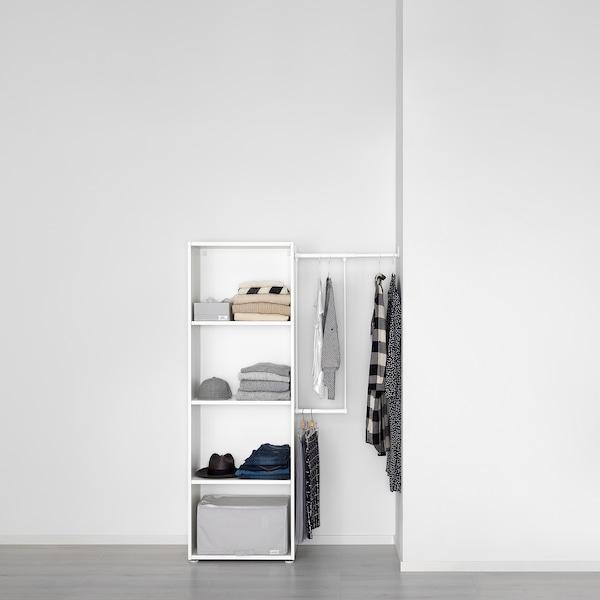 PLATSA Kleiderschrank, weiß/Fonnes weiß, 95-120x42x181 cm