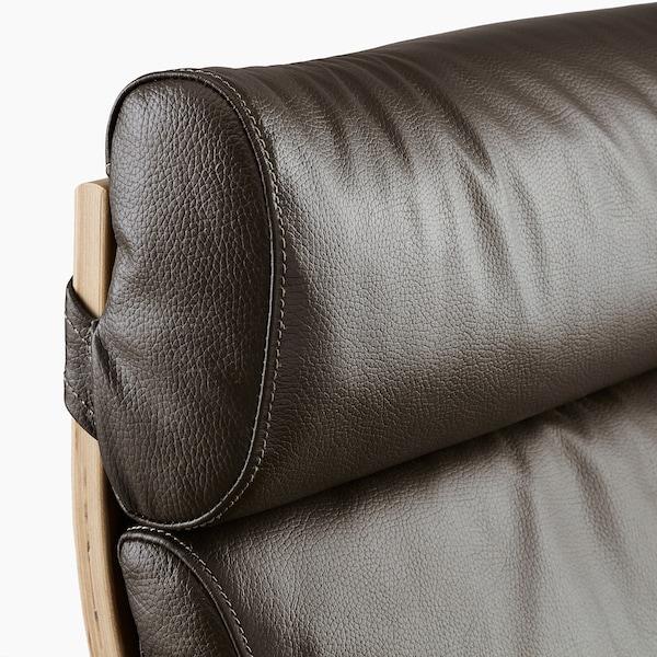 POÄNG Sessel Eichenfurnier weiß lasiert/Glose dunkelbraun 68 cm 82 cm 100 cm 56 cm 50 cm 42 cm
