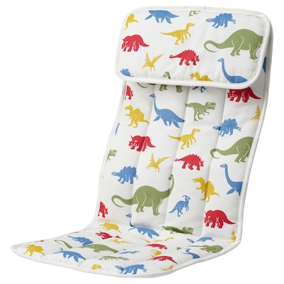 POÄNG Auflage für Kindersessel, Medskog/Dinosauriermuster