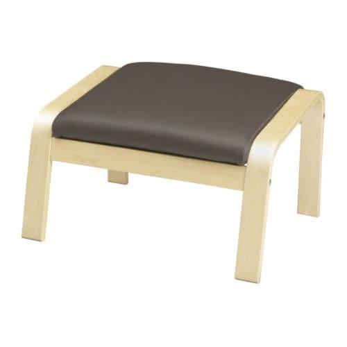 po ng hocker glose dunkelbraun ikea. Black Bedroom Furniture Sets. Home Design Ideas