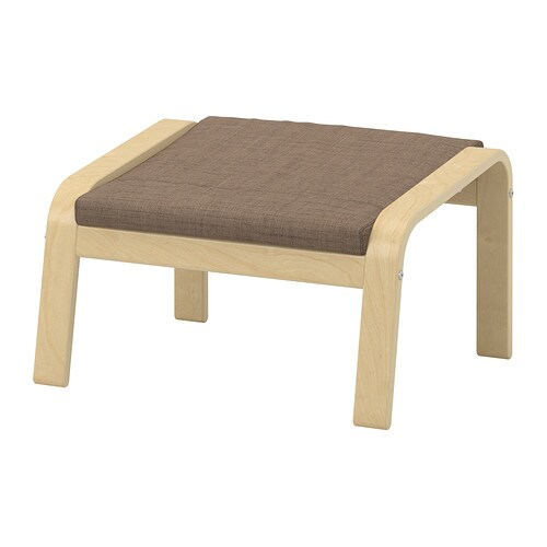 po ng polsterkissen f r hocker isunda braun ikea. Black Bedroom Furniture Sets. Home Design Ideas